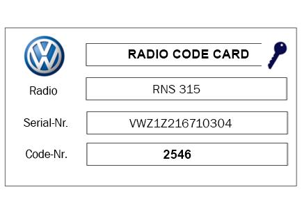 RADIO CODE SERVICE - Lost your radio code? No problem!